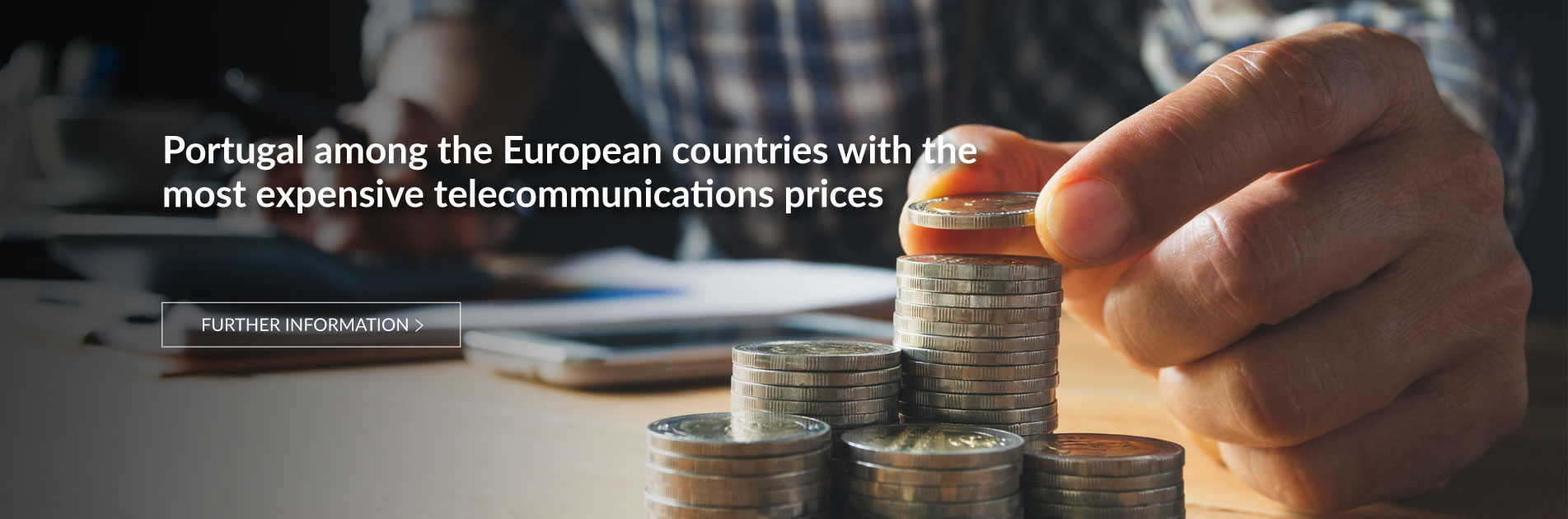 Between the end of 2009 and April 2020, telecommunications prices in Portugal increased by 7.7%, while in the UE they fell by 10.4%.
